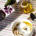 Vue de détail d'une huile d'olive vierge extra