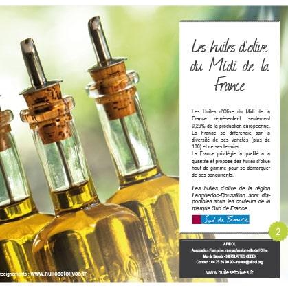 Livret Les huiles d'olive du Midi de la France