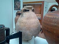 Amphore romaine pour le stockage et la conservation de l'huile d'olive