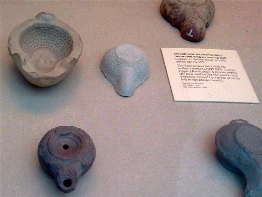 lampes à huiles de l'antiquité