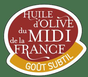 Logo huile d'olive du Midi de la France : goût subtil