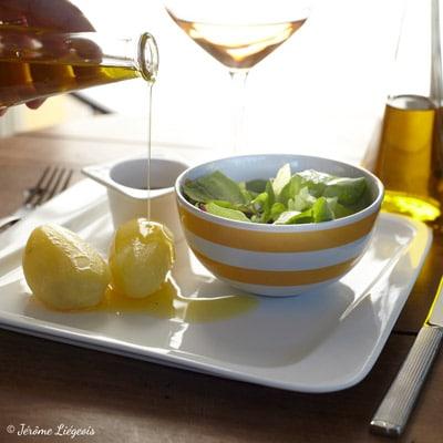 Recette simple de pommes de terre et d'huile d'olive